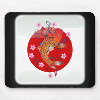Bandera brillante japonesa alfombrilla de ratón