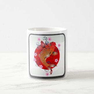 Bandera brillante japonesa taza de café