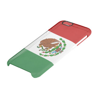 Bandera brillante mexicana funda transparente para iPhone 6/6s