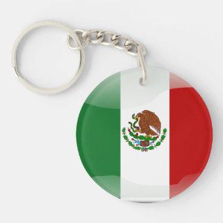 Bandera brillante mexicana llavero