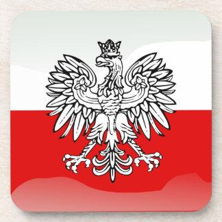 Bandera brillante polaca posavasos