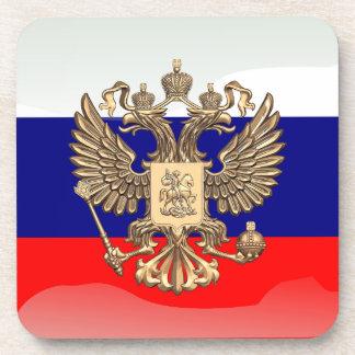 Bandera brillante rusa posavasos