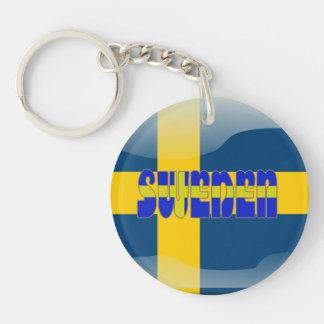 Bandera brillante sueca llavero