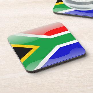 Bandera brillante surafricana posavasos