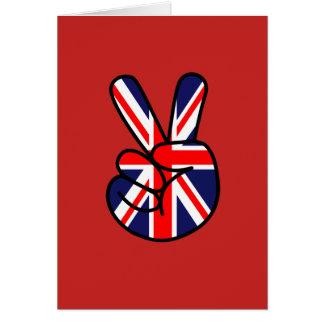 Bandera británica a través de la tarjeta de
