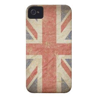 Bandera británica apenada Case-Mate iPhone 4 cárcasas