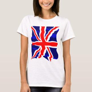 Bandera británica BRITÁNICA retra del tigre 80s de Camiseta
