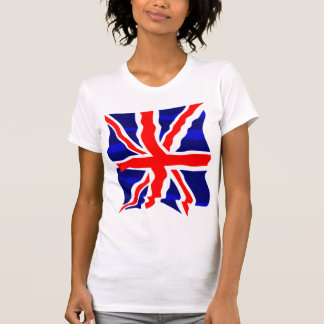 Bandera británica BRITÁNICA retra del tigre 80s de Camisetas