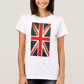 Bandera británica de Union Jack del vintage Camiseta