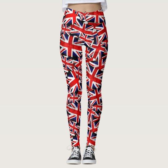 Bandera británica de Union Jack Inglaterra Reino Leggings