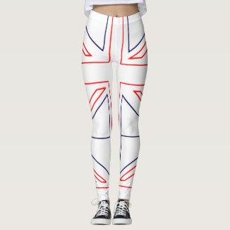 Bandera británica minimalista leggings