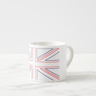 Bandera británica minimalista taza de espresso