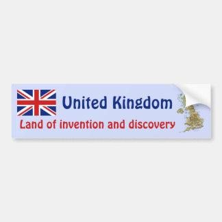 Bandera BRITÁNICA + Pegatina para el parachoques Pegatina Para Coche