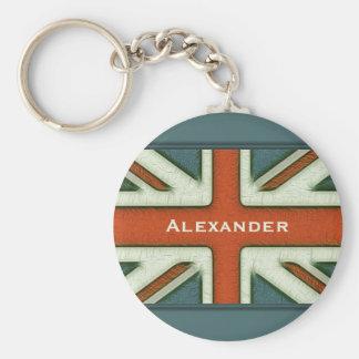 Bandera británica personalizada llavero personalizado