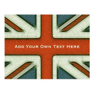 Bandera británica personalizada postales