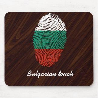 Bandera búlgara de la huella dactilar del tacto alfombrilla de ratón