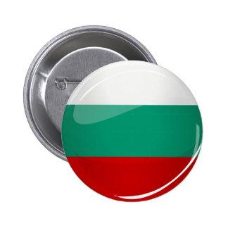 Bandera búlgara redonda brillante chapa redonda de 5 cm