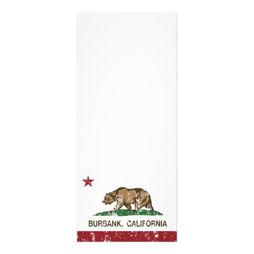 Bandera Burbank del estado de California Anuncio