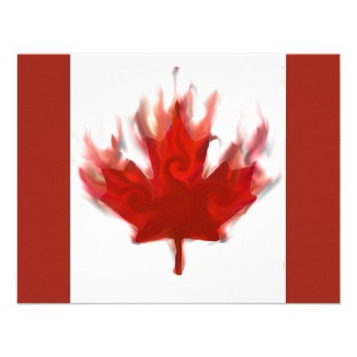 bandera canadiense con los anillos olímpicos comunicados personalizados