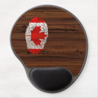Bandera canadiense de la huella dactilar del tacto alfombrilla de ratón de gel