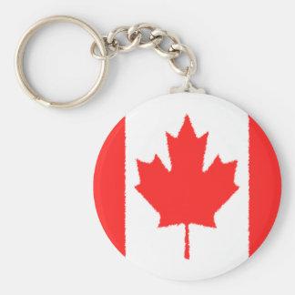 Bandera canadiense llavero redondo tipo chapa