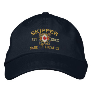 Bandera canadiense náutica personalizada del gorra de béisbol bordada