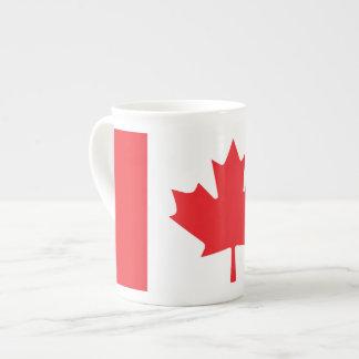 Bandera canadiense taza de porcelana