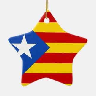 Bandera catalana de la independencia de adorno de cerámica en forma de estrella