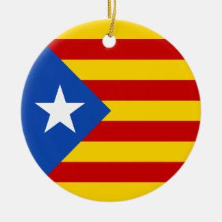 Bandera catalana de la independencia de adorno redondo de cerámica