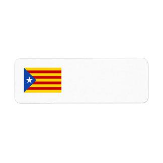 Bandera catalana de la independencia de etiqueta de remitente