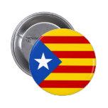 "Bandera catalana de la independencia de ""L'Estelad Chapa Redonda 5 Cm"