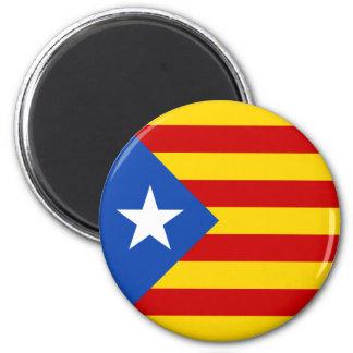 """Bandera catalana de la independencia de """"L'Estelad Imán Redondo 5 Cm"""