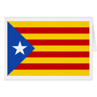 """Bandera catalana de la independencia de """"L'Estelad Tarjeta"""
