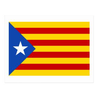 Bandera catalana de la independencia de postal