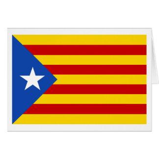 Bandera catalana de la independencia de tarjeta de felicitación
