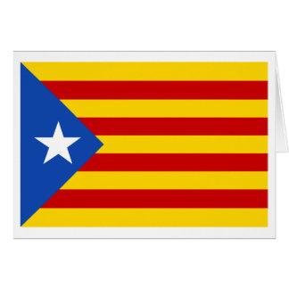 Bandera catalana de la independencia de tarjeta pequeña
