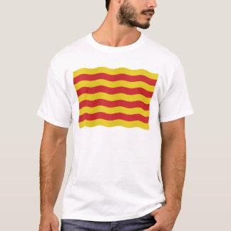 Bandera catalana - fondo transparente camiseta