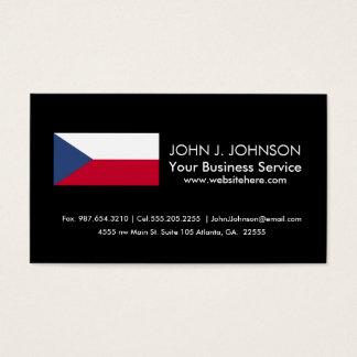 Bandera checa tarjeta de negocios