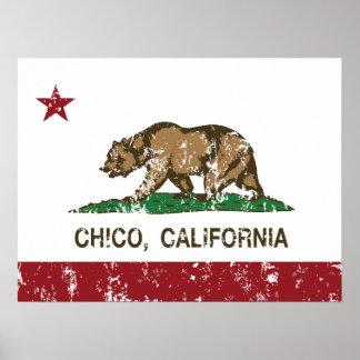 Bandera Chico del estado de California Impresiones