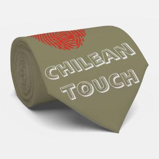 Bandera chilena de la huella dactilar del tacto corbata personalizada