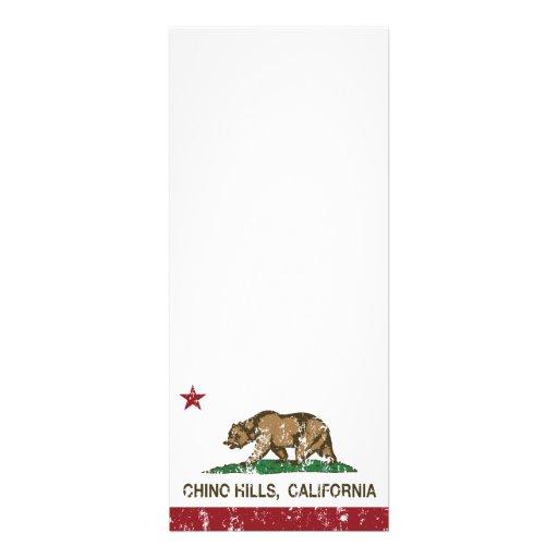 Bandera Chino Hills del estado de California Invitacion Personalizada