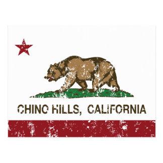 Bandera Chino Hills del estado de California Tarjetas Postales