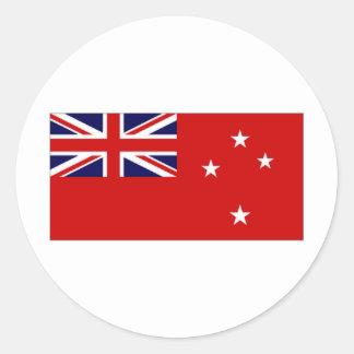 Bandera civil de Nueva Zelanda Etiqueta