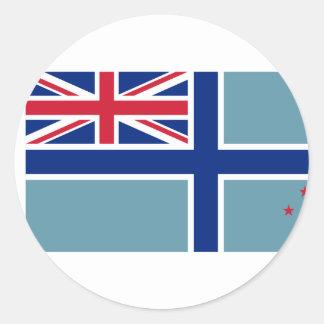 Bandera civil del aire de Nueva Zelanda, Nueva Pegatina Redonda