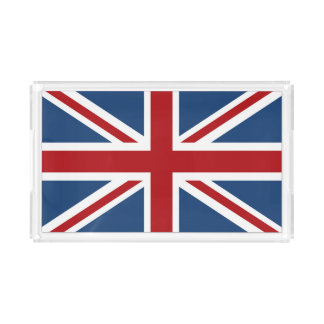 Bandera clásica de Union Jack Reino Unido Bandeja Acrílica