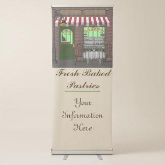 Bandera cocida fresca del negocio de la panadería pancartas retráctiles