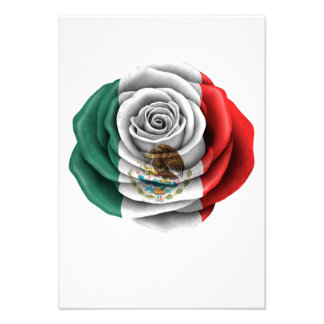Bandera color de rosa mexicana anuncios personalizados