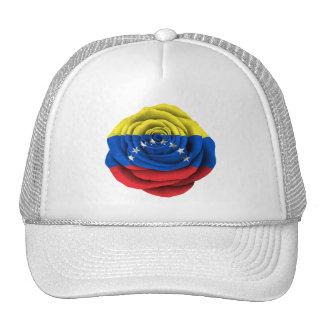 Bandera color de rosa venezolana gorros bordados