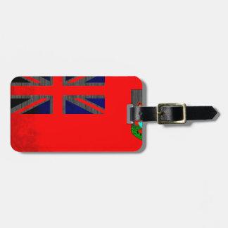 Bandera colorida de la persona de Bermudas del con Etiqueta Para Maleta