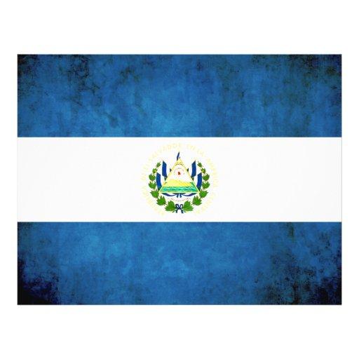 Bandera colorida de salvadoreño del contraste tarjeta publicitaria